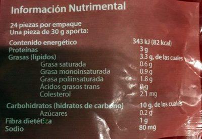 Flautas de Pollo - Voedingswaarden - es