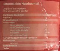 Flautas Edición Sabores de México de Tinga de Pollo El Cazo mexicano - Informations nutritionnelles - es
