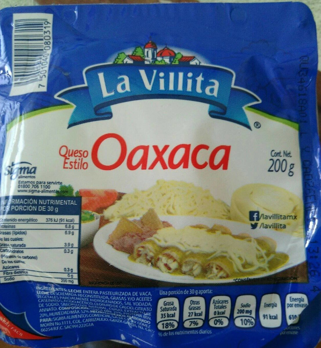 Queso Oaxaca - Producto - fr