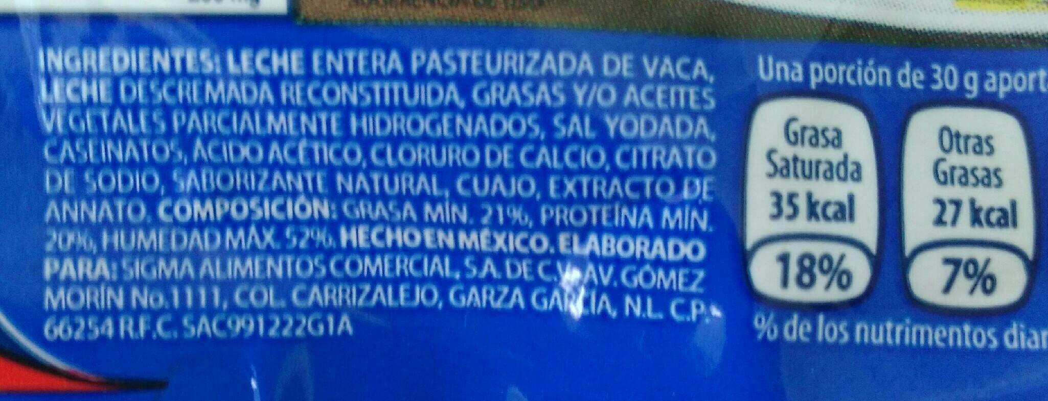 Queso Oaxaca - Ingredientes - fr