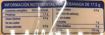 Queso Americano La Villita - Voedingswaarden - es