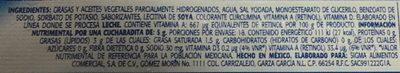 Margarina con sal La Villita - Ingrediënten - es