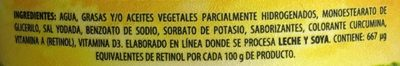 Margarina sin sal La Villita - Ingrediënten - es