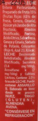 Yoplait Yoghurt con Frutas Rojas - Ingredienti - es