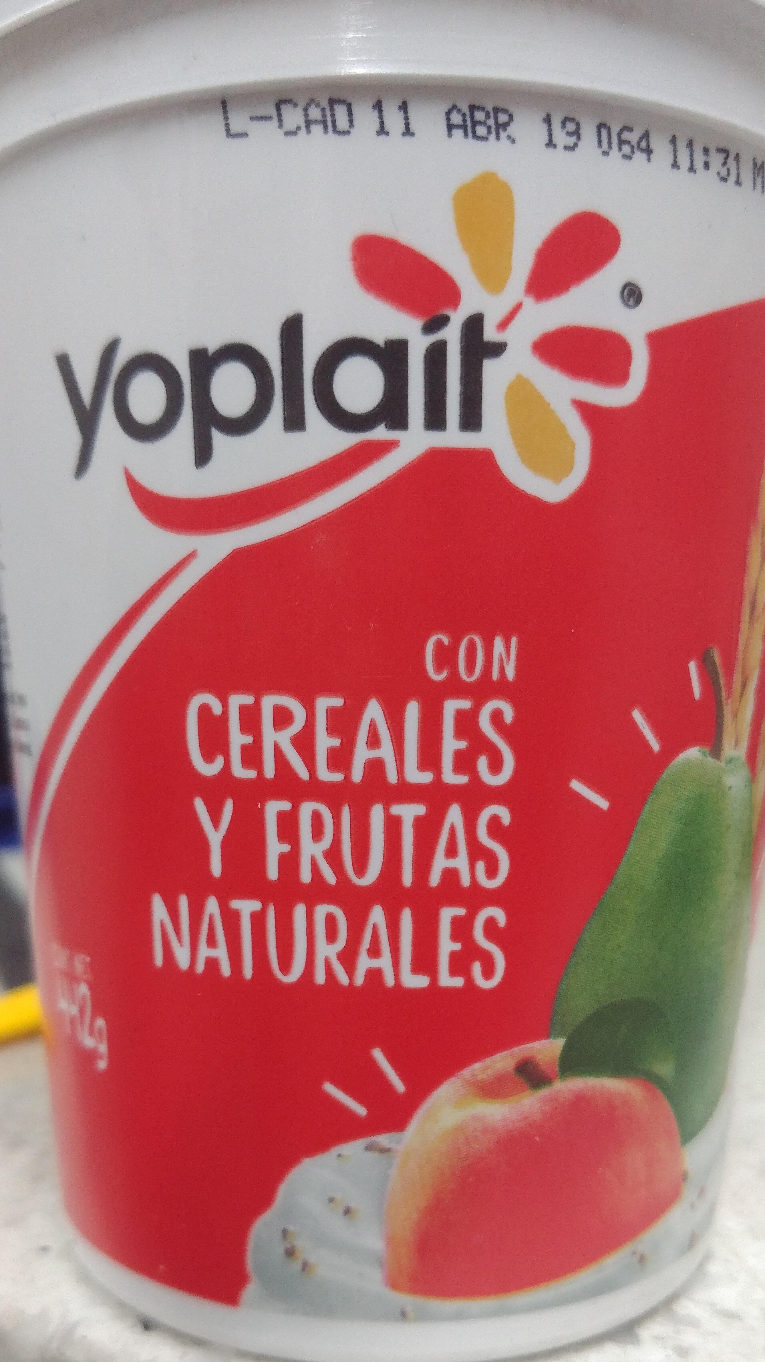 Yoplait: Cereales y frutas naturales - Product - es
