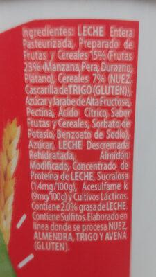 Yoplait: Cereales y frutas naturales - Ingredients