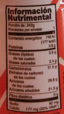 Yoghurt para beber Yoplait - Nutrition facts