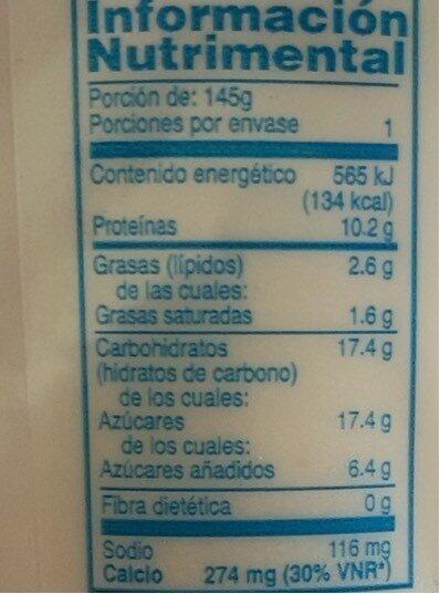 Griego - Información nutricional - es