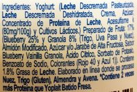 Yoplait Griego Granos Selectos - Ingredients - es