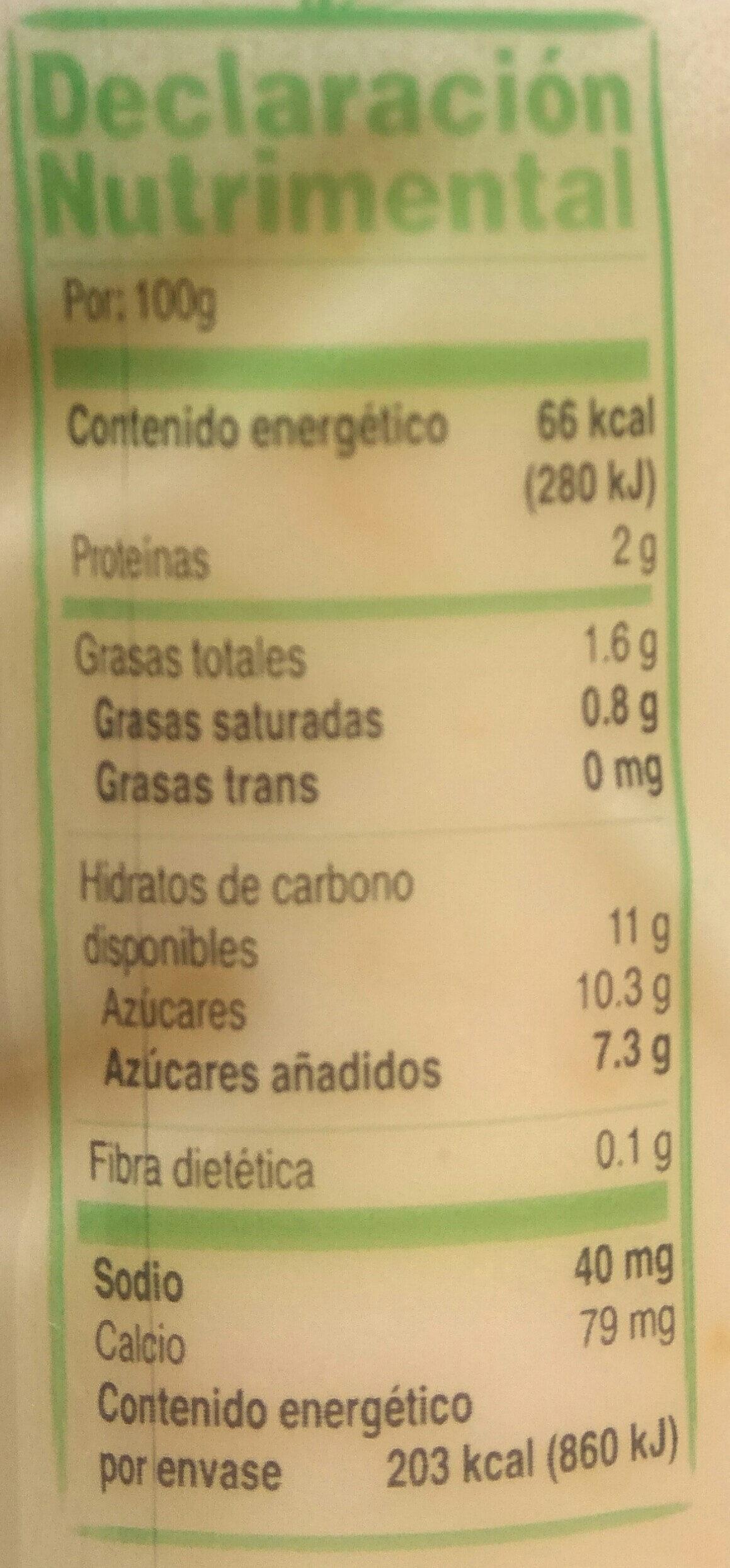 Yoplait Disfruta - Valori nutrizionali - es