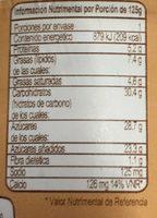 Yogur Placer Vainilla Yoplait - Nutrition facts
