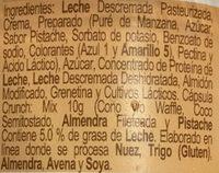 Yogur Placer Pistache Yoplait - Ingredients