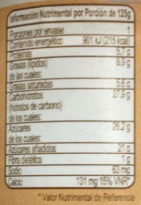 Yogur Placer Pistache Yoplait - Nutrition facts