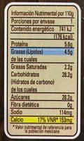 Flan Casero Yoplait - Voedingswaarden - es