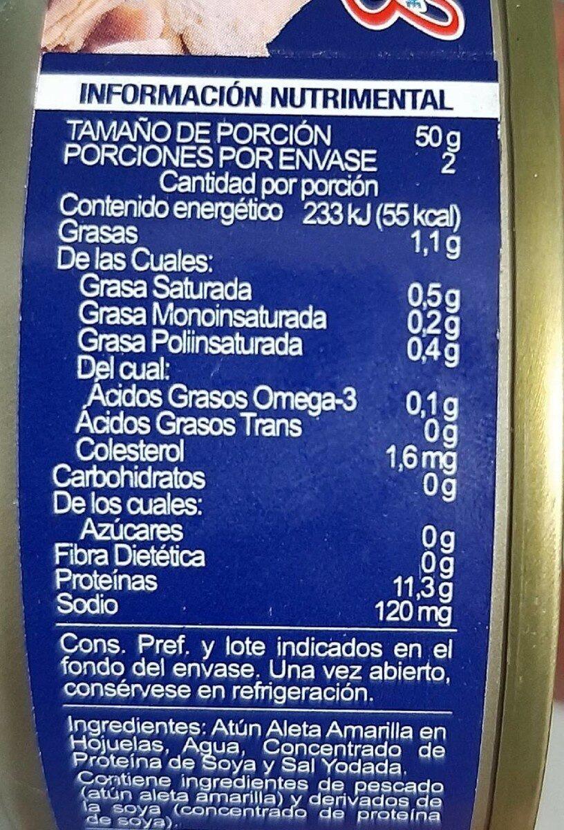 Tuny - Información nutricional - es