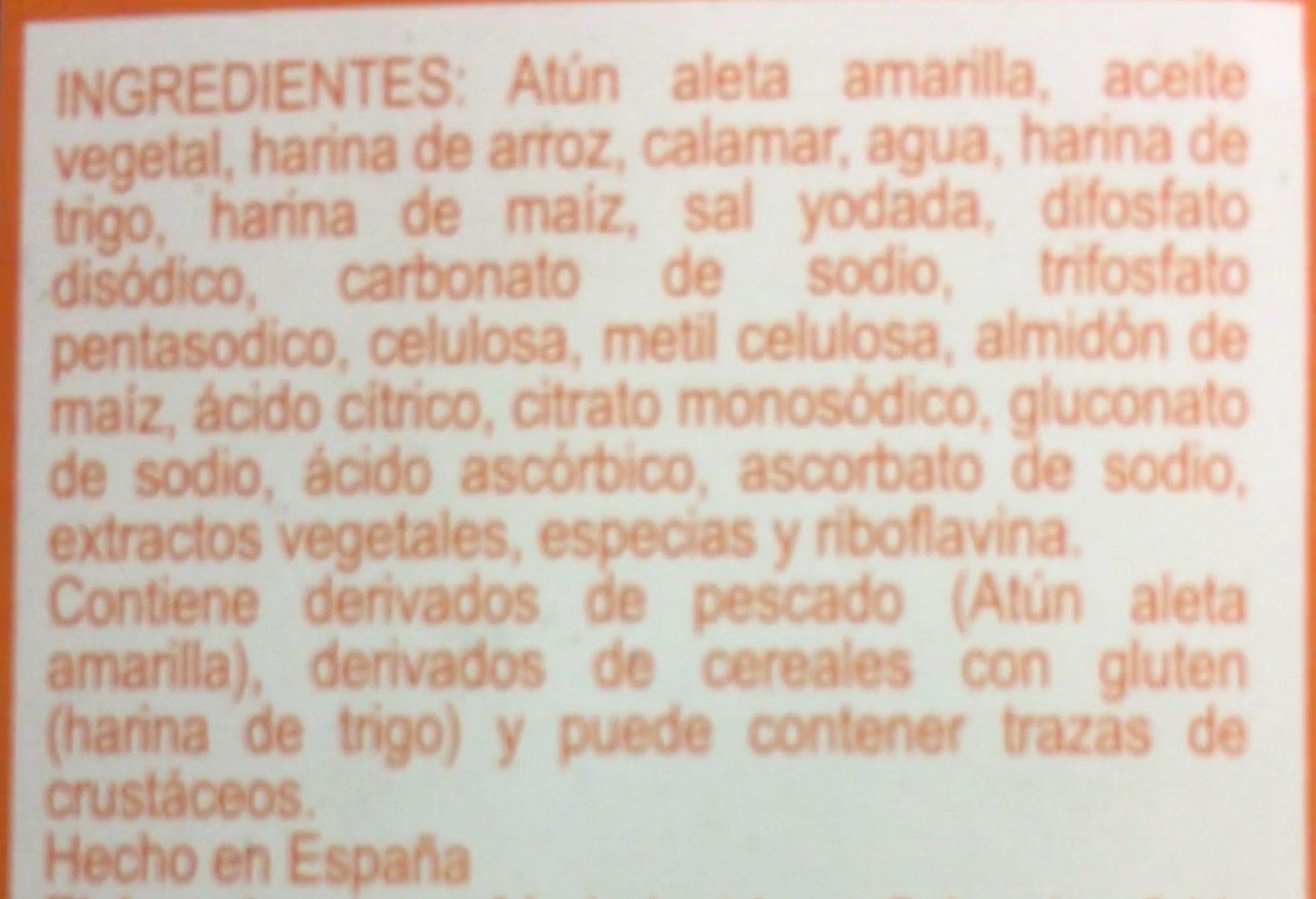 Nuggets de atún, Tuny, - Ingrédients - es