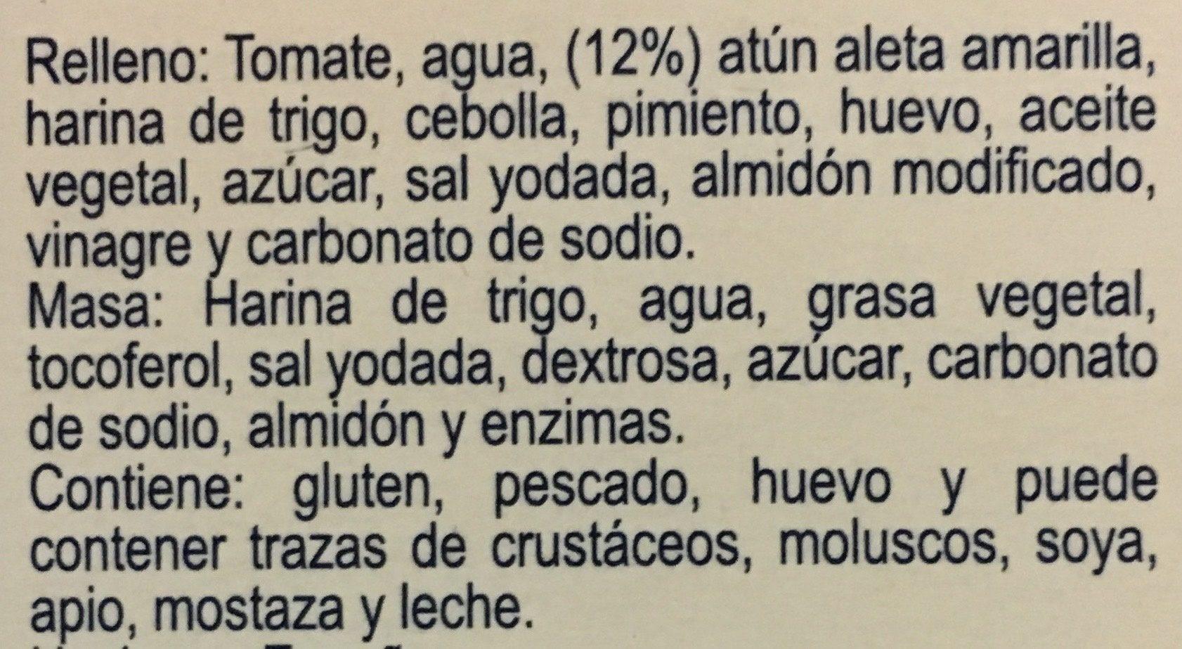 Empanadas de Atún, Tuny, - Ingrédients - es
