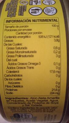 atún en aceite - Voedingswaarden - es