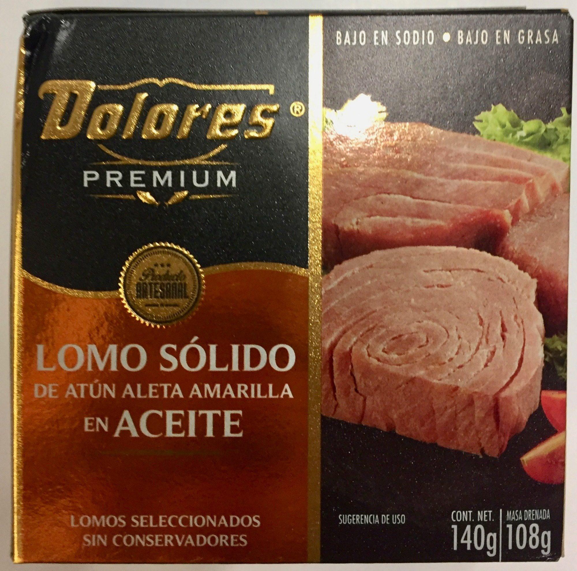 Dolores Premium Lomo sólido de atún aleta amarilla en aceite - Product