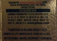 Dolores Premium Lomo sólido de atún aleta amarilla en aceite - Ingrediënten