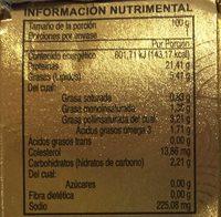 Dolores Premium Lomo sólido de atún aleta amarilla en aceite - Voedingswaarden