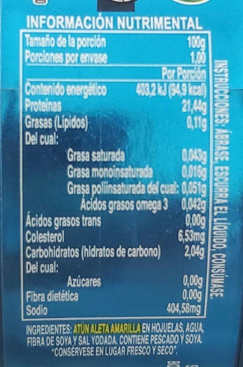 Lomo de atún - Información nutricional - es