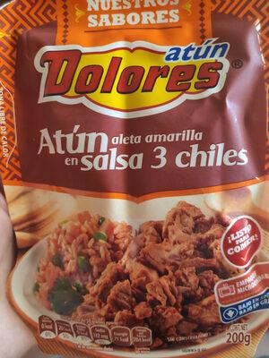 Atún Aleta Amarilla en salsa 3 chiles - Produit
