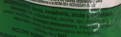 CAMPESINA DE ARROZ - Ingrediënten - es