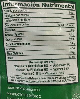 Floretes de Brócoli, La Huerta, - Ingrediënten - es