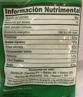 Elote en Grano, La Huerta, - Informations nutritionnelles