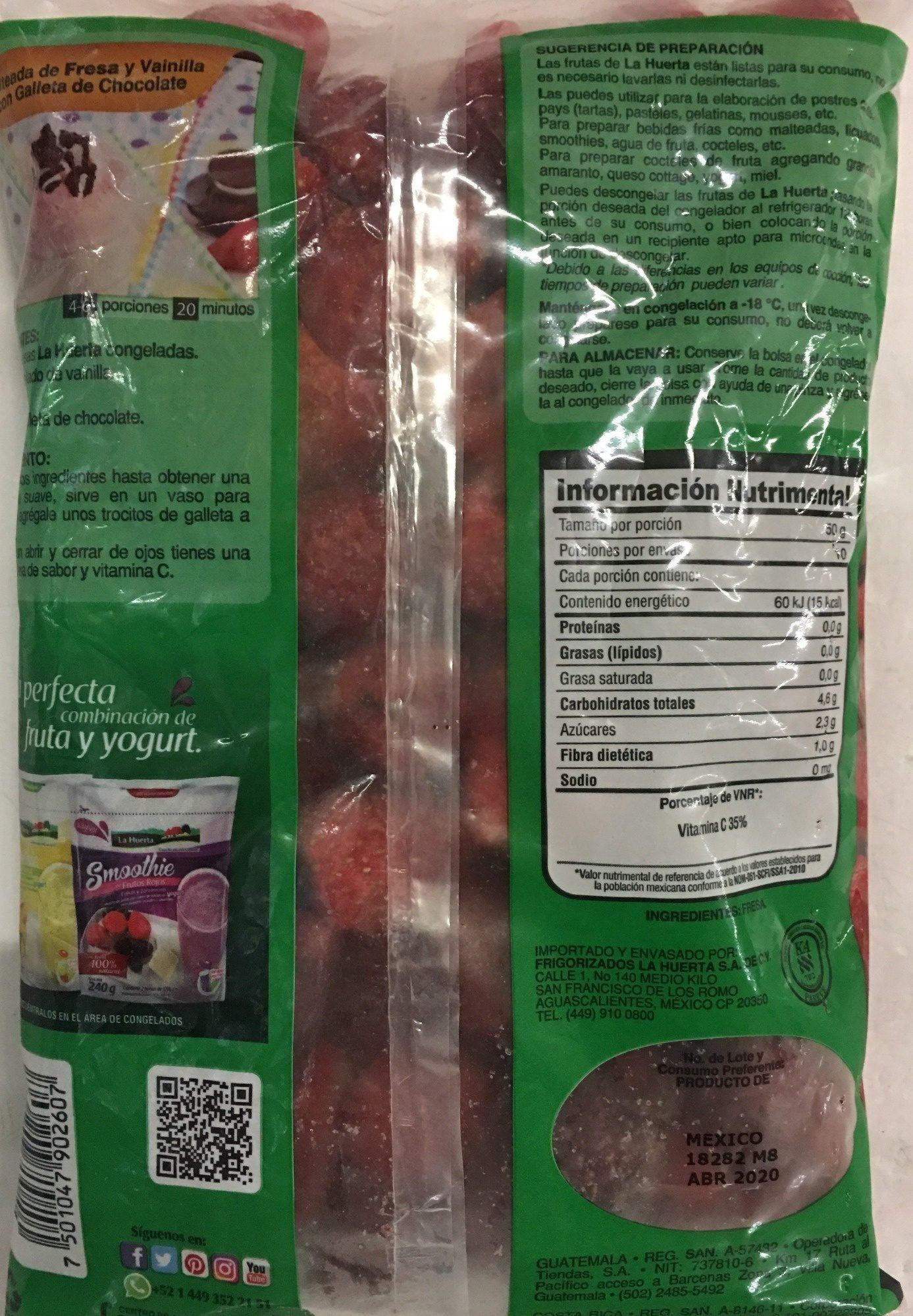 Fresas - Ingrédients - es