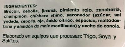 VEGETALES SAZONADOS - Ingrédients - es