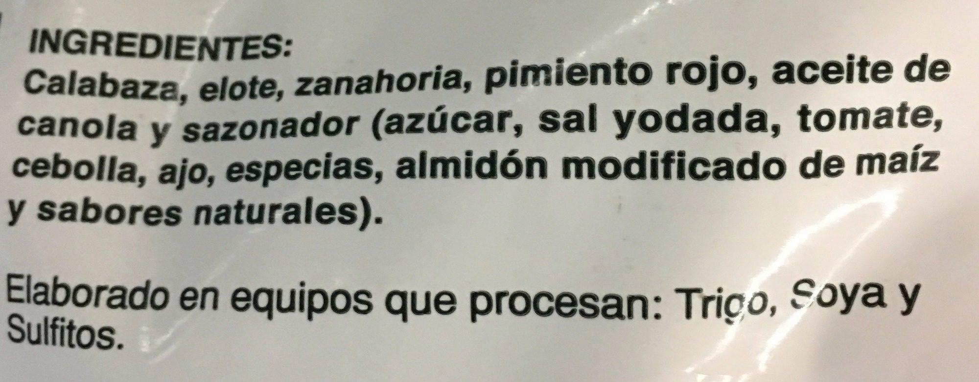 VEGETALES SAZONADOS BBQ - Ingrédients - es