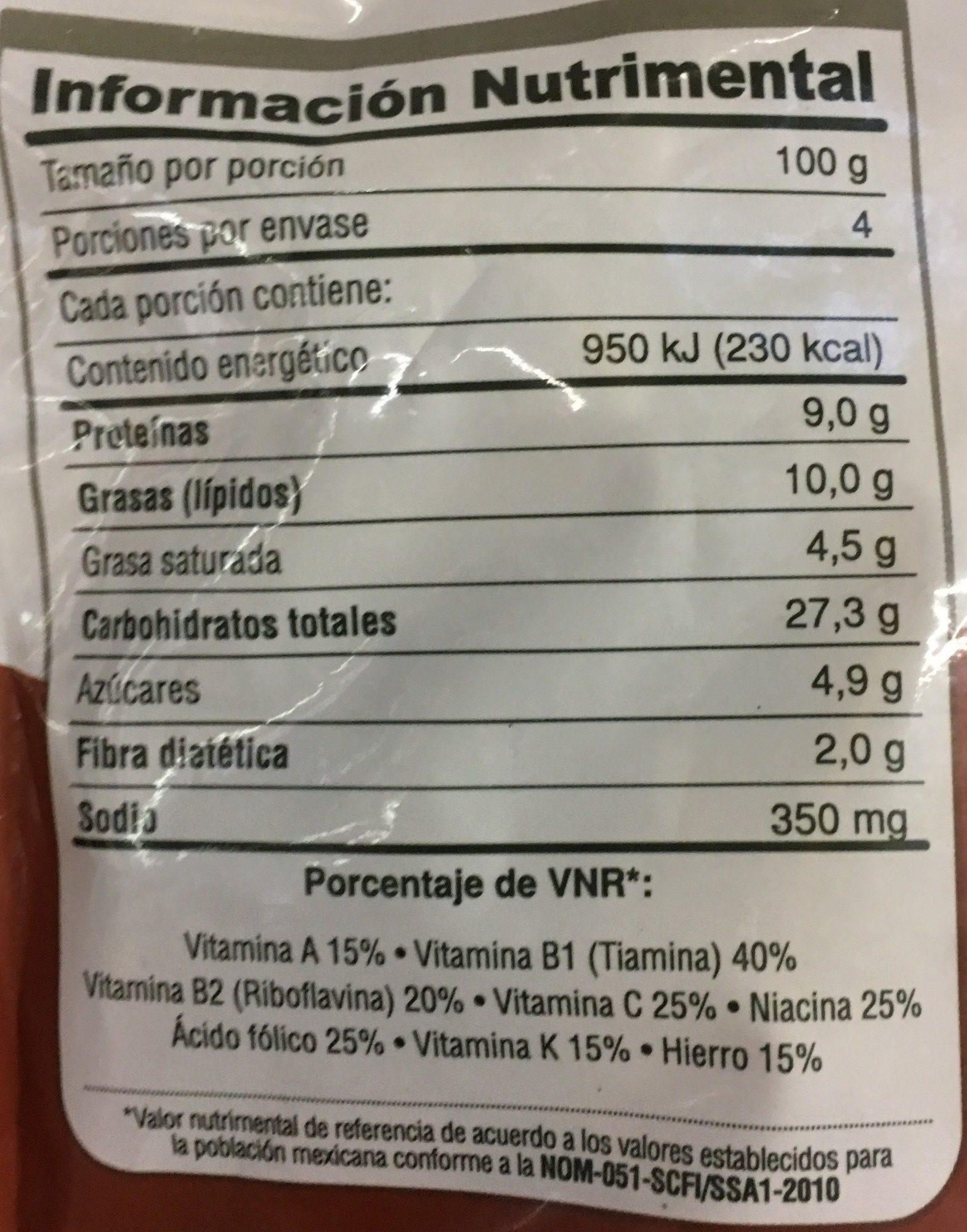PAsta Alfredo - Informations nutritionnelles