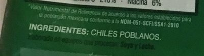 CHILES PARA RELLENAR - Ingredients