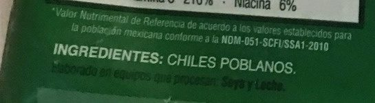 CHILES PARA RELLENAR - Ingrediënten - es