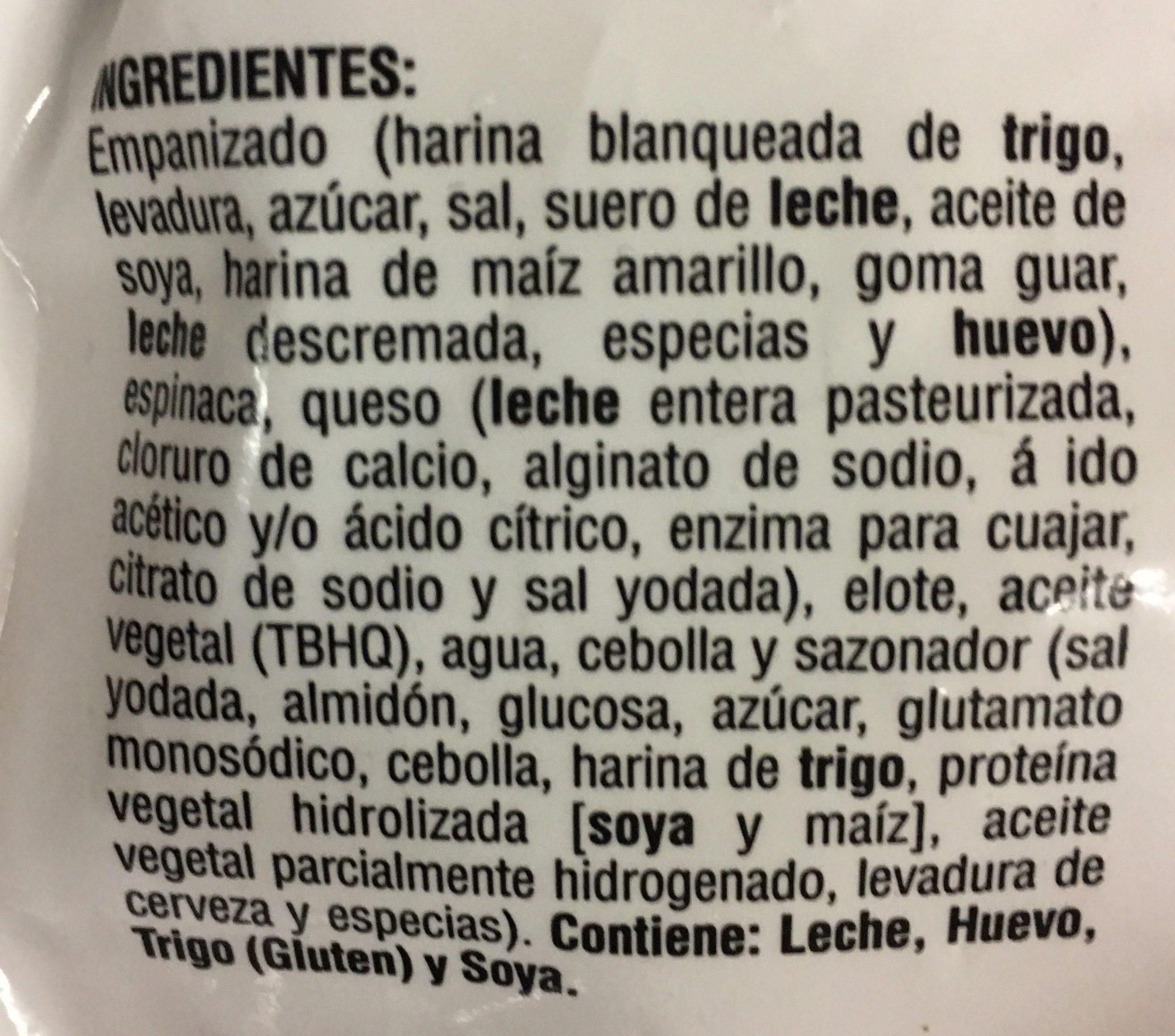 Medallones de espinacas y queso, La Huerta - Ingrédients - es