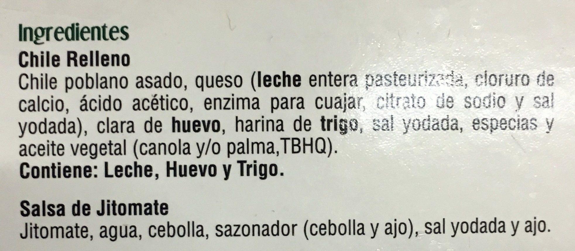Chiles Rellenos - Ingrédients - es