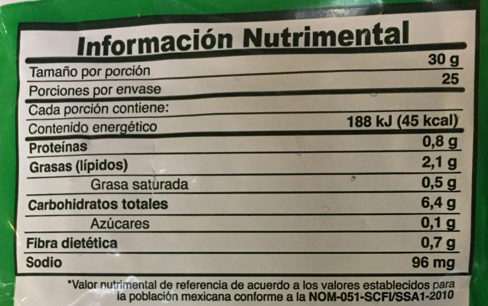 Papas Ajos Sazonados La Huerta - Voedingswaarden - es
