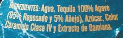 Licor de Tequila - Ingrédients - es