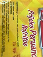 Frijoles Peruanos Refritos - Ingredients - en