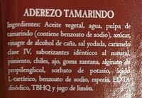 ADEREZO DE TAMARINDO - Ingrediënten - es