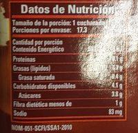 ADEREZO DE TAMARINDO - Voedingswaarden - es