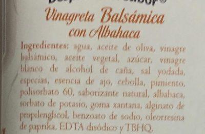 VINAGRETA BALSAMICA - Ingredientes - es
