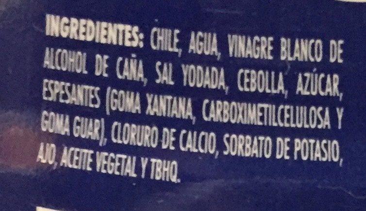 Chiles Jalapenos Molidos Squeeze - Ingredientes - es