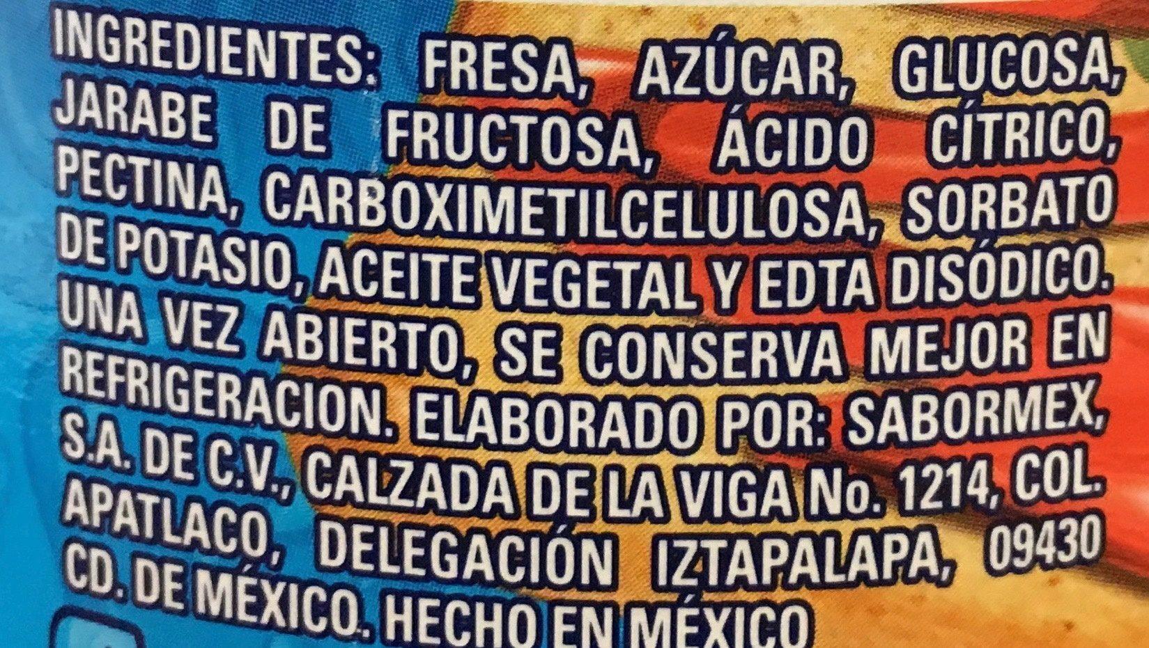 Clemente Jacques Mermelada de Fresa - Ingrédients - es