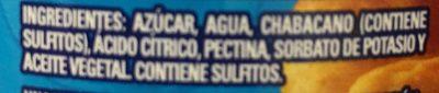 MERMELADA DE CHABACANO CLEMENTE JACQUES - Ingrediënten - es