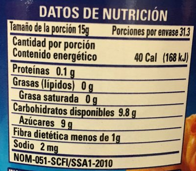 MERMELADA DE CHABACANO CLEMENTE JACQUES - Voedingswaarden - es