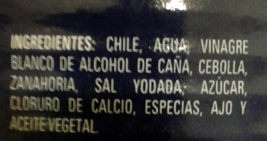Nachos chiles jalapeños en escabeche - Ingrediënten