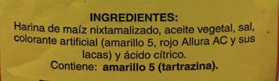 Totopos de maíz salados - Ingrédients - es